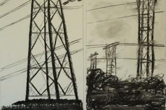 ART_2014_03 Pylones (fusain) (3)